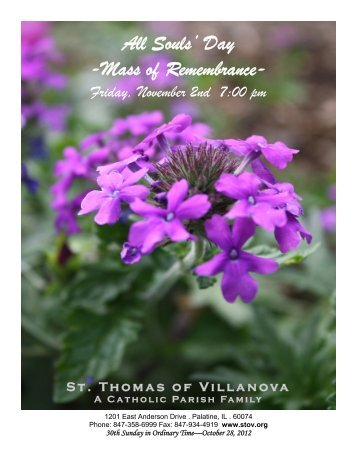 All Souls' Day -Mass of Remembrance- - St. Thomas of Villanova