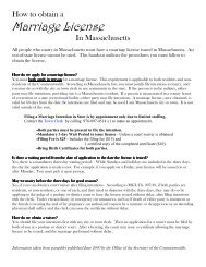 how to obtain a marriage license in andover, massachusetts