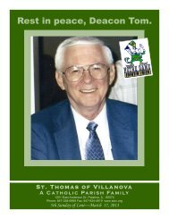 Rest in peace, Deacon Tom. - St. Thomas of Villanova