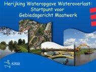 Presentatie Joost Heijkers (Toetsing normen wateroverlast) - Stowa