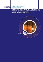 20 vergaande voorzuivering van afvalwater - Stowa