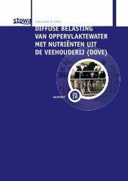 diffuse belasting van oppervlaktewater met nutriënten uit de ... - Stowa