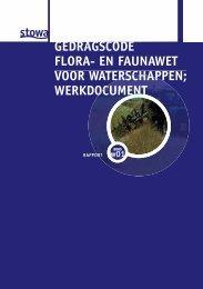 gedragscode flora- en faunawet voor waterschappen - Stowa