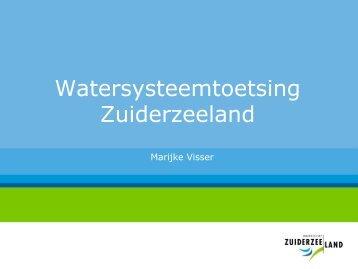 Presentatie Marijke Visser (Toetsing normen wateroverlast) - Stowa
