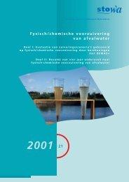 Fysisch/chemische voorzuivering van afvalwater - Stowa