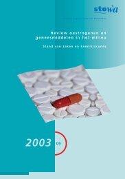 Review oestrogenen en geneesmiddelen in het milieu - Stowa