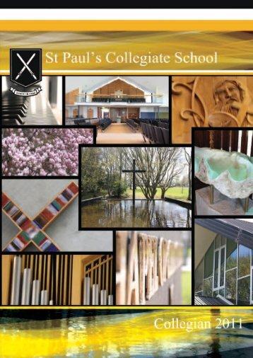 Collegian 2011 Yearbook (sample) - St Paul's Collegiate School