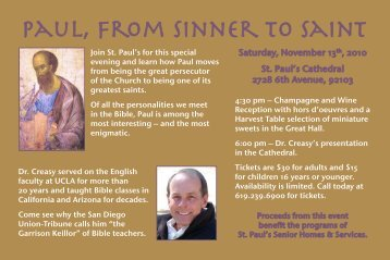 Paul, from Sinner to Saint - St. Paul's Senior Homes & Services