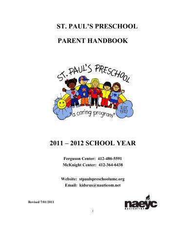 MISSION STATEMENT - St. Paul's Preschool
