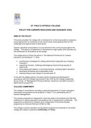 Careers Education and Guidance Policy. - St Paul's Catholic College