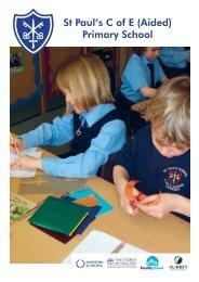 Prospectus - St Paul's C of E (Aided) Primary School