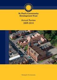 Annual Review 2009-2010 - St. Paul's Community Trust