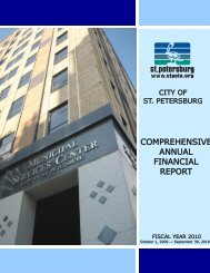 comprehensive annual financial report - City of St. Petersburg