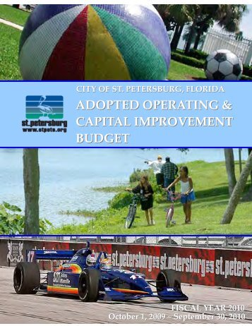 adopted operating & capital improvement budget - City of St ...