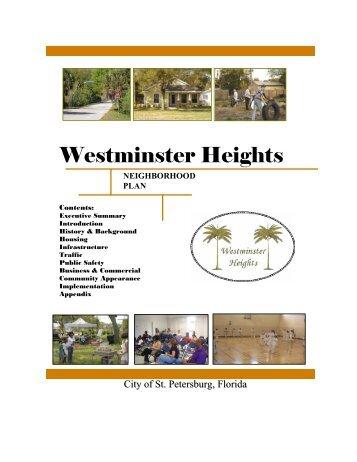 Westminster Heights Neighborhood Plan - City of St. Petersburg