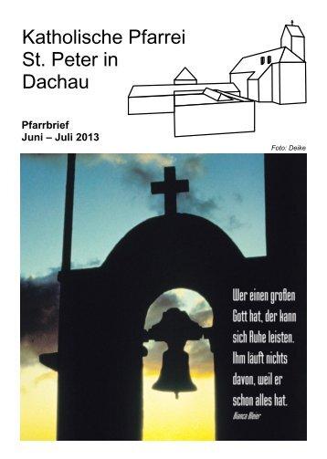 Pfarrbrief St. Peter Oktober - November 2012 - St. Peter Dachau