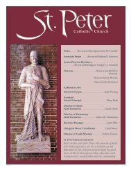 Monday, November 14th at 7:00PM - St. Peter Catholic Church