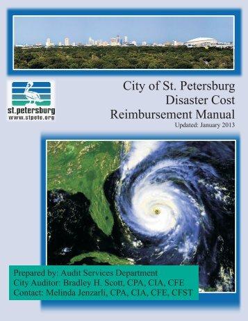 Disaster Cost Reimbursement Manual City of St. Petersburg