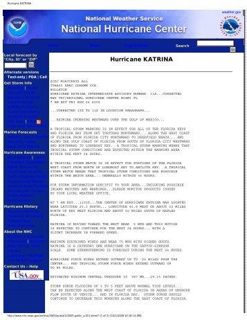 Hurricane KATRINA weather.gov Home