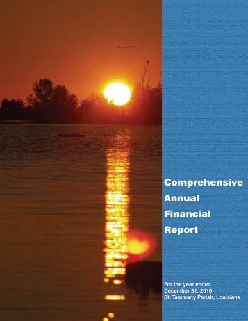 Comprehensive Annual Financial Report - St. Tammany Parish ...