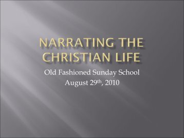 Narrating the Christian Life - The Cathedral of St. Philip