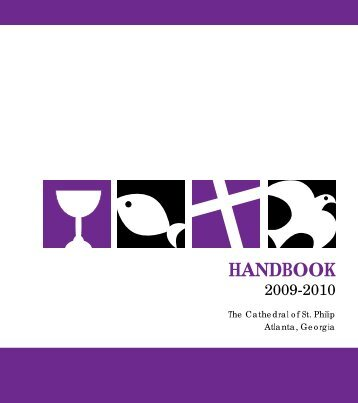 Handbook - The Cathedral of St. Philip