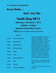 REP_RCIA Youth Day Ministry - St. Philomena Parish