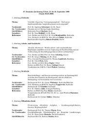 Themenübersicht 67. DJT aktuell Stand 05.03.2008