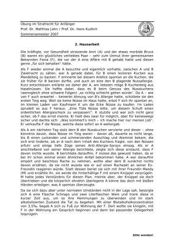Übung im Strafrecht für Anfänger Prof. Dr. Matthias Jahn / Prof. Dr ...
