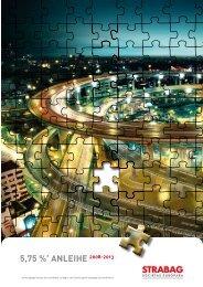 Broschüre Anleihe 2008-2013 - Strabag