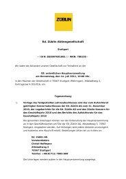 Ed. Züblin Aktiengesellschaft - Ed. Züblin AG