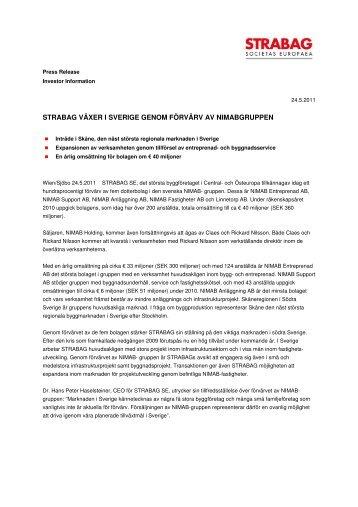STRABAG SE_Schweden ... - Strabag AG