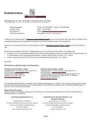 Erstinformation - Strack Investment