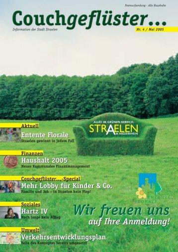 Haushalt 2005 - in Straelen