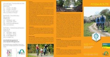 Faltblatt zur Fossa-Route - in Straelen