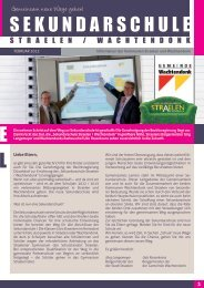 Informationsbroschüre Sekundarschule - Stadt Straelen