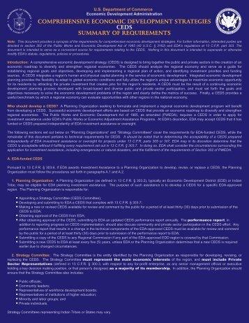 (CEDS) Summary of Requirements - Next Economy