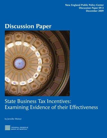 State Business Tax Incentives - Strafford Regional Planning ...