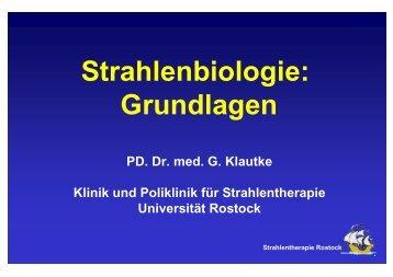 Strahlenbiologie - Klinik und Poliklinik für Strahlentherapie