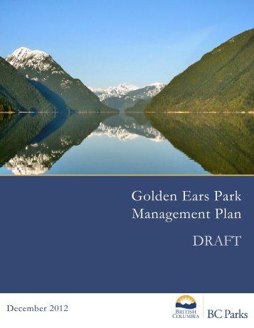 Golden Ears Park Management Plan DRAFT