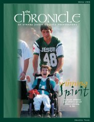 The Chronicle - 24 page - Strake Jesuit College Preparatory