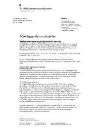 Föreläggande om åtgärder Västerbotten - Strålsäkerhetsmyndigheten