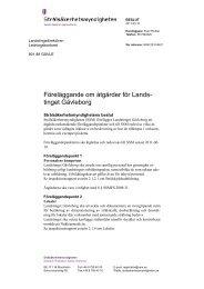 Föreläggande om åtgärder för Landstinget Gävleborg