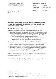 Beslut om åtgärder för Forsmark Kraftgrupp AB med anledning av ...