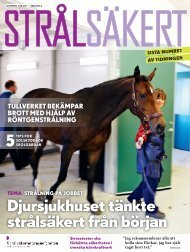 Strålsäkert, nr 4, 2011 (Tidskrift) 3795 KB - Strålsäkerhetsmyndigheten