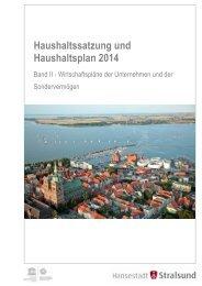 Haushaltssatzung und Haushaltsplan 2014 - in der Hansestadt ...