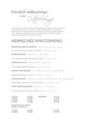 Heimisches Wintermenü - Strandhotel Ostsee