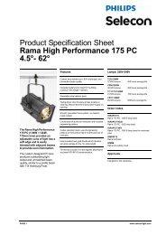 Rama High Performance 175 PC 4.5°- 62 - Strand Lighting