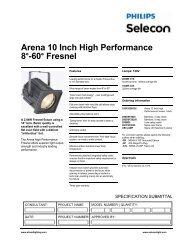 Arena High Performance Fresnel - Strand Lighting