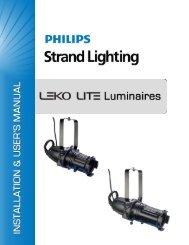 LEKO LITE Luminaire Installation & User's - Strand Lighting